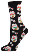 Lucky Cat Socks (Black)