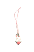 Cell Phone Charm - White Rabbit