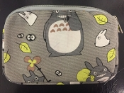Light Grey Canvas Mini Pouch - Totoro