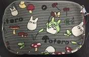 Dark Grey Canvas Mini Pouch - Totoro