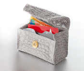 Grey Mist Croc Card Cubby