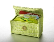 Lime Croc Card Cubby