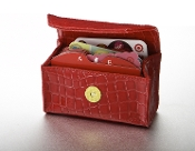 Really Red Croc Card Cubby