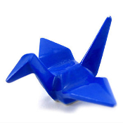 Crane Chopstick Rest (Blue)
