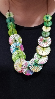Sylca Designs Green Print Azalea Necklace