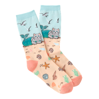 Colorful CatMermaid Socks