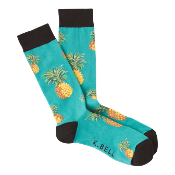 Blue Pineapple Socks (Mens)